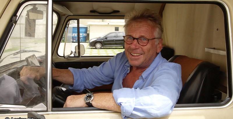Daniel Cohn-Bendit au volant du camping-car